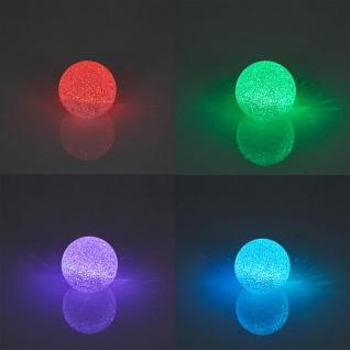 3er Set LED Kugel 8cm Farbwechsel Leuchtkugel Vinyl Stimmungsleuchte Leuchte