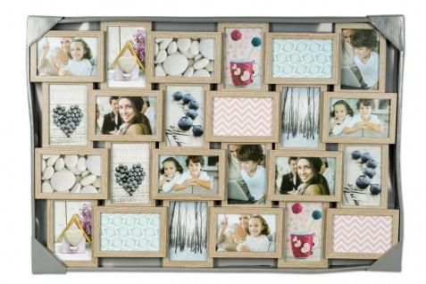 levandeo Bilderrahmen Collage 84x57cm 24 Fotos 10x15 Eiche gekälkt Holz MDF Glas - Vorschau 5