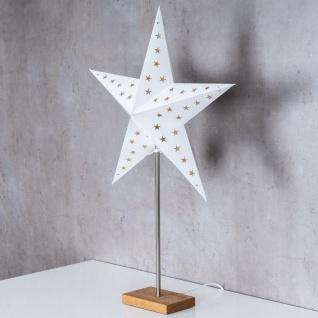 LED Stern B x H 43x67cm Weihnachtsstern Standfuß Deko Lampe Leuchte Tischlampe - Vorschau 3