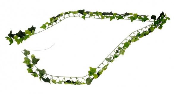 Efeu-Girlande L175 cm Grün Efeublätter Efeuranke Kunstpflanze Hängepflanze Deko