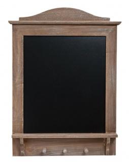 Memotafel Tafel Wandtafel mit 3 Haken aus Holz Vintage Shabby Kreide