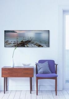Glasbild 80x30cm Wandbild aus Glas Meer Ozean Steg Strand Küste - Vorschau 2