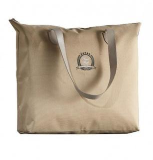 Handtasche beige Shopper Shopping Bag Tasche Tragetasche Henkeltasche