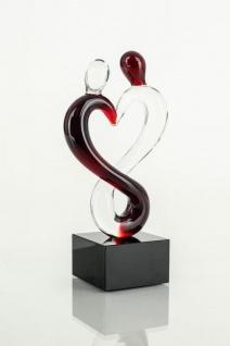 Designer Skulptur aus Glas - Design Glas-Skupltur Mann und Frau 15x5cm