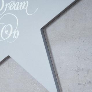 Holzschild 2er Set Sterne Grau Weiß 30x30cm Sprüche Holzbild Wandobjekt Deko - Vorschau 4