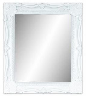 Wandspiegel Weiß Barock 34x40cm Spiegel Wanddeko Antik Badspiegel Vintage Deko