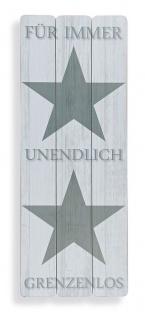 Wandbild Sterne Für Immer Liebe Holz-Bild Wandschild Stars Holzbild