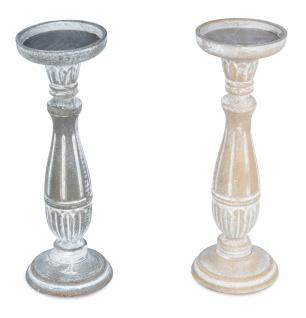 2er Set Kerzenhalter 31cm hoch Kerzenständer Deko Shabby Chic Vintage