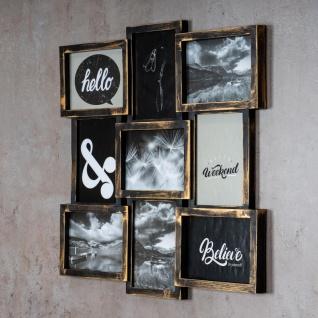 levandeo Bilderrahmen Collage 52x52cm 9 Fotos 13x18cm Kupfer Industrial Glas - Vorschau 3