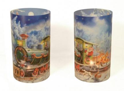2er Set Kerzenschirme für Teelicht Windlicht - Lokomotive