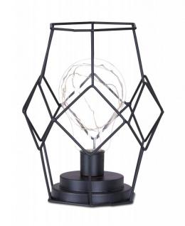 Tischlampe Metall Schwarz LED 17x22cm Lampe Standleuchte Leuchte Deko
