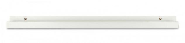 Bilderleiste Weiß 70cm lang MDF Holz Bilderschiene Galerieschiene Wandregal