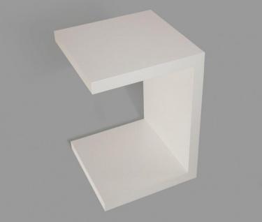Beistelltisch Coco weiß Deutsche Herstellung 32x32x50cm fest verleimt