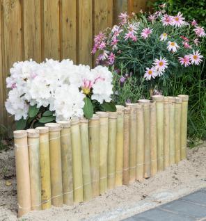 Bambuszaun B x H: 100x30cm Beeteinfassung Rasenkante Steckzaun Garten - Vorschau 1
