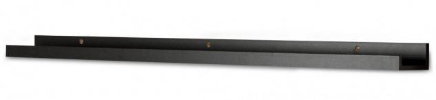 Bilderleiste Schwarz 110cm lang MDF Holz Bilderschiene Galerieschiene Wandregal