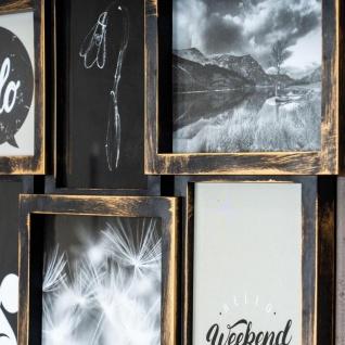 levandeo Bilderrahmen Collage 52x52cm 9 Fotos 13x18cm Kupfer Industrial Glas - Vorschau 4