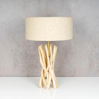 Lampe Tischlampe 62cm Holz Holzlampe Unikat Braun Treibholz Leuchte Deko - Vorschau 2