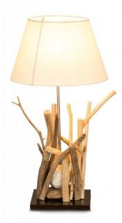 Tischlampe aus Holz Treibholz 35x35x65cm Lampe Holzlampe Unikat
