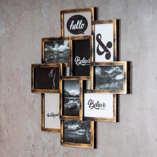 levandeo Bilderrahmen Collage 50x55cm 10 Fotos 10x15cm Kupfer Industrial Glas - Vorschau 3