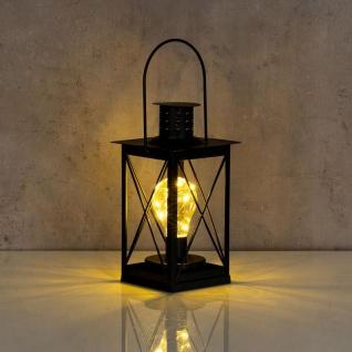 levandeo Tischlampe Metall Schwarz LED 12x23cm Lampe Laterne Standleuchte Retro - Vorschau 4