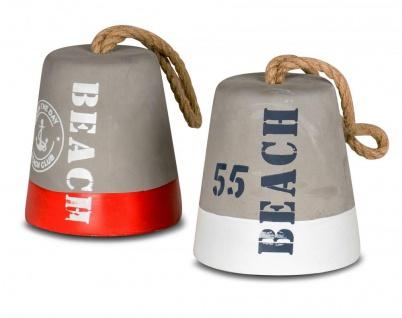 2er Set Türstopper 13 cm hoch Beton Beach Tau Maritim Anker Stopper 1, 2kg