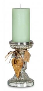 2er Set Kerzenständer H21cm H17cm Kerzenhalter Tischdeko Kerzenleuchter Deko - Vorschau 2