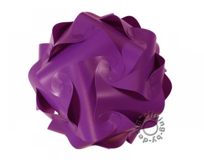 IQ Puzzle Lampe violett XL Retro Designer Hängelampe Deckenleuchte