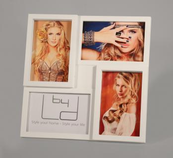Bilderrahmen für 4 Fotos in weiß Foto Aufsteller Fotogalerie Collage