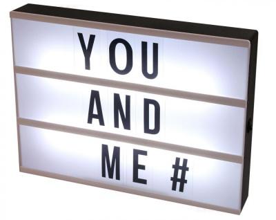levandeo Lightbox 30x22cm LED Leuchttafel Leuchtreklame Buchstaben Memo Deko