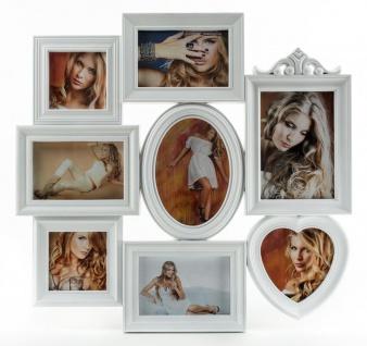 Fotogalerie in weiß 8 Fotos Bilderrahmen Fotocollage Collage Galerie