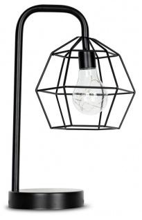levandeo Tischlampe Metall Schwarz LED 33cm Hoch Lampe Standleuchte Leuchte Deko - Vorschau 1