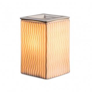 Elektrische Duftlampe Weiß 15cm hoch Quadratisch Keramik Tischlampe