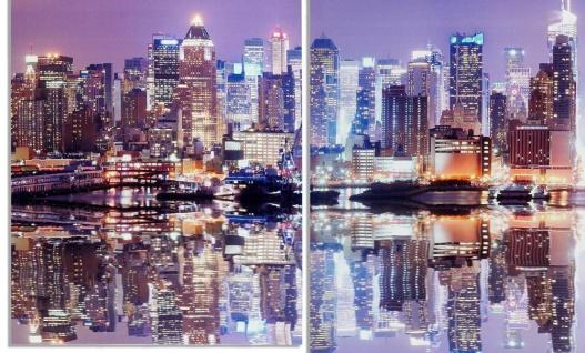 Wandbild 4 teilig Manhattan Skyline New York USA Amerika Bild Leinwand - Vorschau 3