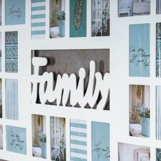 Bilderrahmen 139x60cm Holz Weiß Family 32 Fotos 10x15 Fotorahmen - Vorschau 5