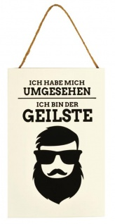 """Wandbild MDF Holz 20x30cm """" Ich bin der Geilste ?? Wanddeko Schild Deko Bild Fun"""