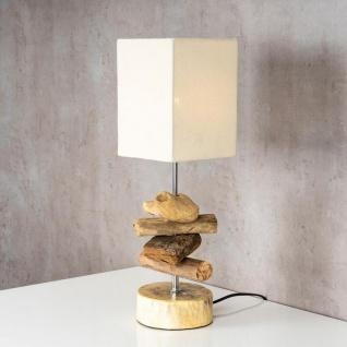 Tischlampe 15 x 50 x 15 cm Treibholz Tischleuchte Holz Lampe Teakholz Deko - Vorschau 4