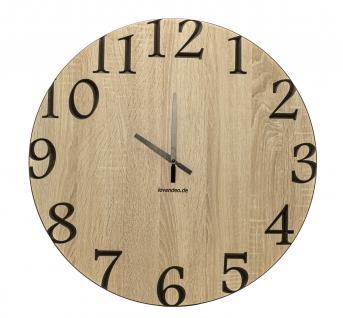 Wand-Uhr Holz 60cm Sonoma Eiche Deutsche Herstellung klassisch Marke