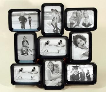 Design Bilderrahmen Loop in schwarz für 9 Fotos schwarze Fotocollage
