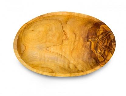 Holzschale Olivenholz ca. 20x12cm Schale Holz Tischdeko Dekoschale Natur Unikat - Vorschau 3