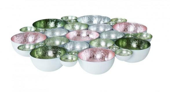 Teelichtschale 30x30cm Metall Pastell bunt Schale Teelichthalter Kerzenhalter