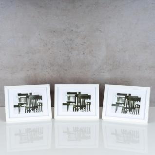 levandeo 3er Set Bilderrahmen 13x18cm Weiß Holz MDF Glasscheiben Rahmen - Vorschau 2