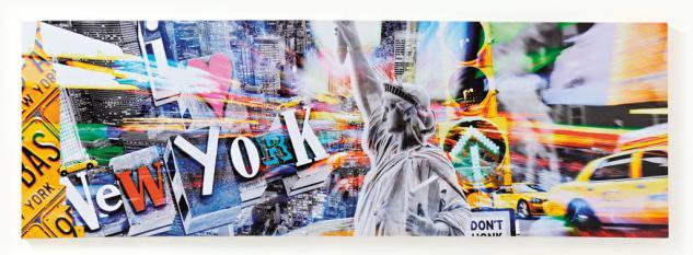 Wandbild Amerika USA New York Freiheitsstatue Leinwandbild 30x90cm