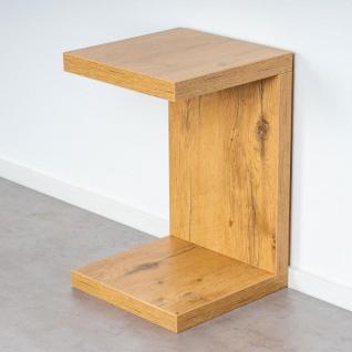 levandeo Couchtisch Coco Holz 32x32x50cm Wildeiche Tisch Beistelltisch Deko - Vorschau 2