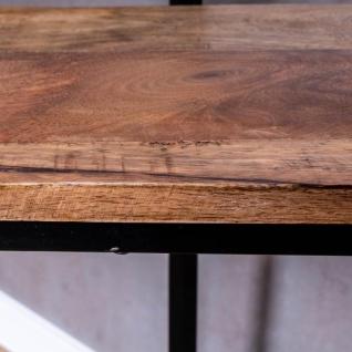 2er Set Beistelltisch Mango Natur Eisen Schwarz Design Holz Couchtisch Deko - Vorschau 5