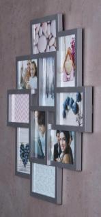 Bilderrahmen silber 10 Fotos Fotogalerie Fotocollage 3D Optik Collage - Vorschau 4