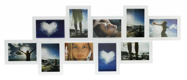 Bilderrahmen Collage weiß für 10 Fotos Fotogalerie Fotocollage Galerie - Vorschau 2