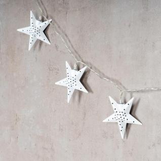 levandeo Lichterkette LED Weiß 10 Sterne Weihnachten Licht Beleuchtung Deko Xmas - Vorschau 3