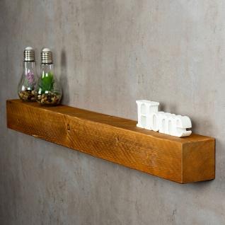 levandeo Wandregal Holz Massiv 100x10cm Teak Farbig Wandboard Regal Vintage Bord