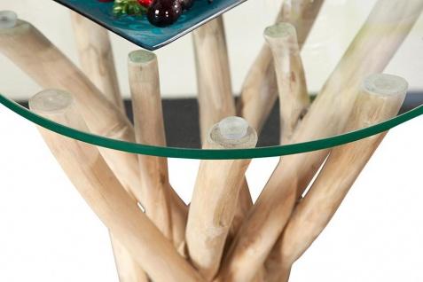 Couchtisch Beistelltisch Treibholz Glas 50x35x35cm Unikat - Vorschau 4