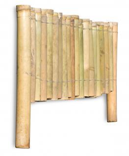 Bambuszaun B x H: 100x30cm Beeteinfassung Rasenkante Steckzaun Garten - Vorschau 3